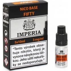 Nikotinová báze CZ IMPERIA 5x10ml PG50-VG50 3mg