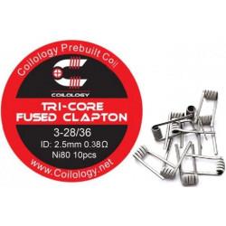 Coilology Tri-Core Fused Clapton předmotané spirálky Ni80 0,38ohm