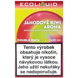 Liquid Ecoliquid Premium 2Pack Strawberry Kiwi 2x10ml - 18mg