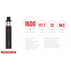 Smoktech Priv N19 Grip 1200mAh Full Kit Black Red
